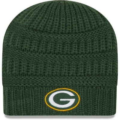 ニューエラ New Era Green Bay Packers Women's Green Comfy Cheer Knit Beanie ユニセックス