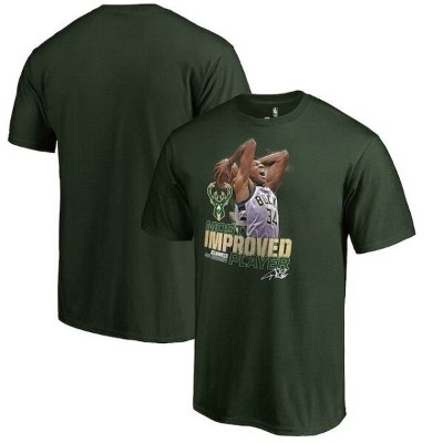 Fanatics Branded Giannis Antetokounmpo Milwaukee Bucks Green 2017 NBA Most Improved Player T-Shirt...