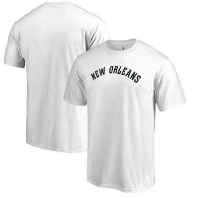 Fanatics Branded New Orleans Pelicans White Primary Wordmark T-Shirt メンズ