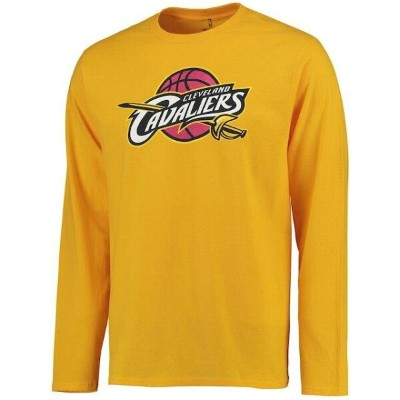 Fanatics Branded Cleveland Cavaliers Gold Primary Logo Long Sleeve T-Shirt メンズ