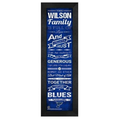 St. Louis Blues Personalized Family Cheer Framed Print ユニセックス