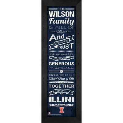 Illinois Fighting Illini Personalized Family Cheer Framed Print ユニセックス