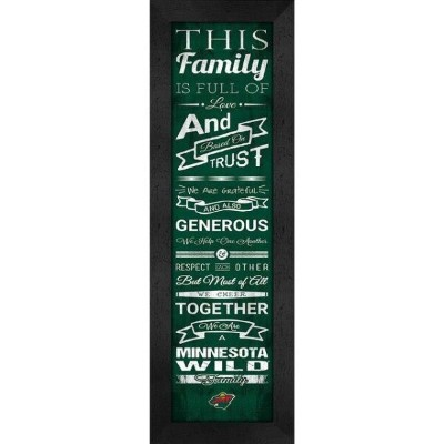 Minnesota Wild Family Cheer Framed Print ユニセックス