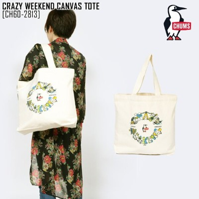 CHUMS チャムス トートバッグ CRAZY WEEKEND CANVAS TOTE バッグ CH60-2813