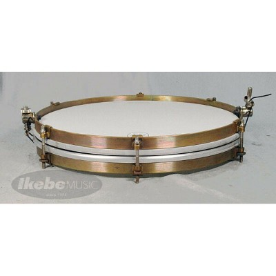 "A&F Drum Co ""Pancake"" 14"" x 1.5"" Raw Brass Snare Drums [Single Tension,No Lugs, with Brass Single..."