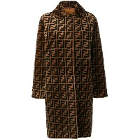 Fendi Double F reversible overcoat - ブラウン