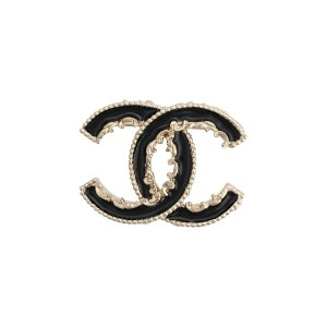 Chanel Pre-Owned 2015's CCブローチ - ブラック
