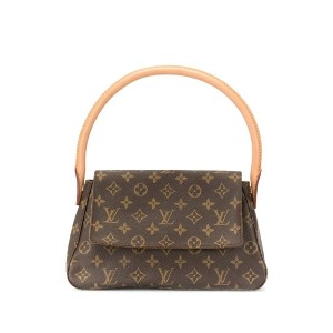Louis Vuitton Pre-Owned ルーピング ハンドバッグ ミニ - ブラウン