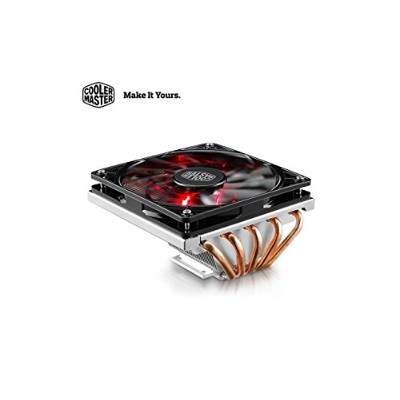 Cooler Master GeminII M5 LED - 2U Low Profile CPU Cooler with 5 Direct Contact Heatpipes & XtraFlo...