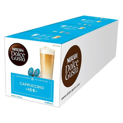 Nescafe Dolce Gusto Cappuccino Ice, Pack of 3, 3 x 16 Capsules 24 Servings