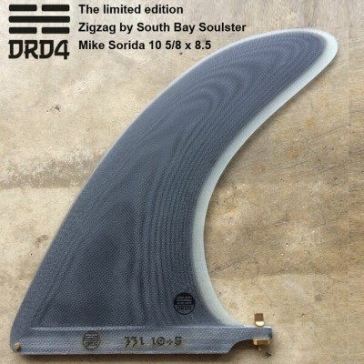 DRD4 FIN ジョエル チューダーフィン The limited edition Zigzag by South Bay Soulster Mike Sorida 10 5/8 x 8.5...