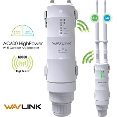 WAVLINK-WN570HA1-AC600高電源屋外防水防雷Dual-band 2.4 + 5GHz 600Mbps 3 in 1 Wireless アクセスポイントAP/リピータRepeater...