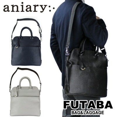 aniary アニアリ 2WAY トートバッグ Wave Leather Tote Bag 16-02002 メンズ レディース 牛革 日本製
