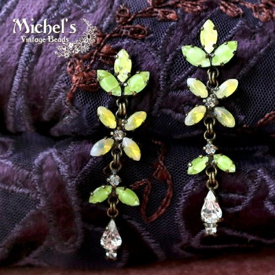 Michel's Vintage Beads Earing Navetteヴィンテージビーズピアス・ナヴェット