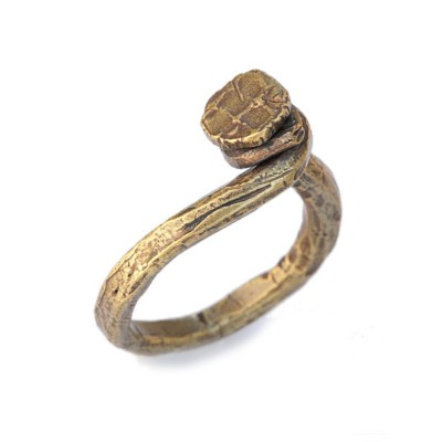M.Cohen(エム・コーエン)hand-forged polished brass twisted nail ring [R-102101-BRS-BRS] ハンドフォージド ポリッシュドブラス...