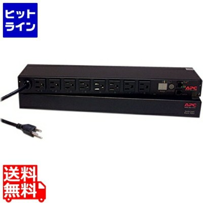 エーピーシー ( APC ) Rack PDU、 Switched、 1U、 15A、 100V、 (8) 5-15 AP7900B