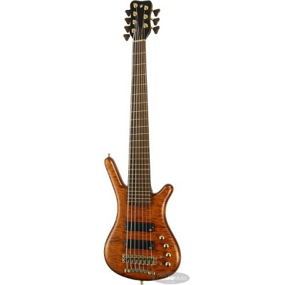 """Warwick 《ワーウィック》 Custom Shop Corvette $$ 7st """"Hand-Selected AAA Coloured Flamed Maple Top/Amber..."""