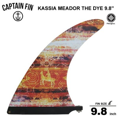 CAPTAIN FIN キャプテンフィン 9.8 シングル フィンKASSIA MEADOR TIE DYE red 9.8/ロングボードセンターフィン/シングル フィン送料無料!!