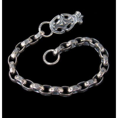 GABORATORY GABOR ガボール ガボラトリー Sculpted Oval With Crown & All H.W.O Links Wallet Chain [WC-09] silver...