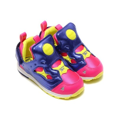 Reebok VERSA PUMP FURY SYN(リーボック バーサ ポンプ フューリー SYN)ROSE RAGE/PIGMENT PURPLE/HERO YELLOW/WHITE【キッズ...
