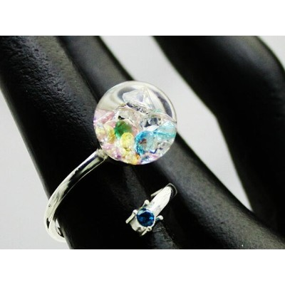新作Bijou glass Ball Silver Ring【リング】