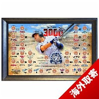 お取り寄せ MLB ヤンキース デレク・ジーター Sports 3000th Hit Framed Photo w/Game Used Dirt