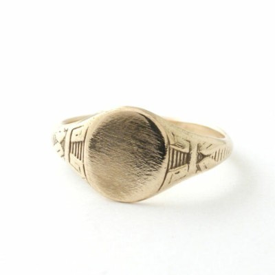 Vantique SIGNET RING OVAL SMALL-GOLD