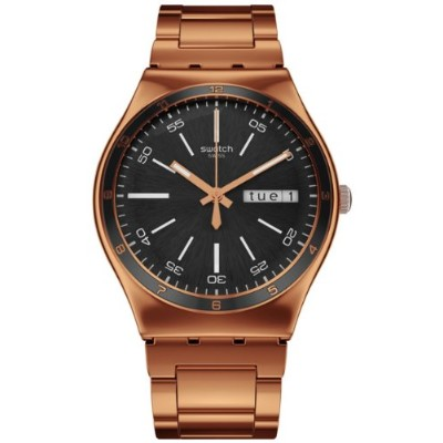 スウォッチ ユニセックス 男女兼用 腕時計 Swatch Unisex YGG704G Rose-Gold Stainless-Steel Swiss Quartz Watch with Black...