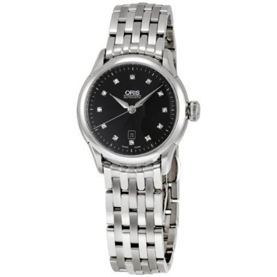 オリス レディース 腕時計 ダイヤモンド Oris Women's OR561-7604-4099MB Artelier Black Dial Diamond Watch
