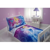 ディズニー シンデレラ 寝具 4点セット Disney Cinderella Magic Happens 4 Piece Toddler Bedding Set