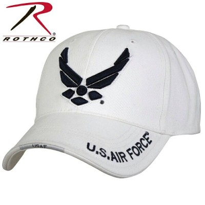 【15%OFFセール開催中】ROTHCO ロスコ Deluxe U.S. Air Force Wing Low Profile Cap White 【9154】/ ミリタリー ギフト
