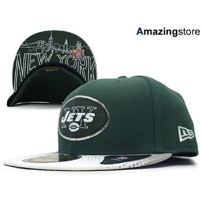 NEW ERA NEW YORK JETS 【2015 NFL DRAFT/GRN-WHT】 ニューエラ ニューヨーク ジェッツ ドラフト 59FIFTY フィッテッド キャップ FITTED...