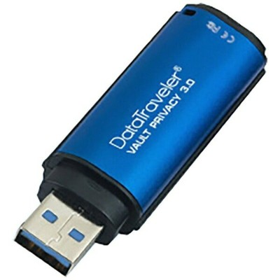 キングストン Kingston DTVP30/32GB USBメモリ DataTraveler Vault Privacy 3.2 ブルー [32GB /USB3.0 /USB TypeA ...