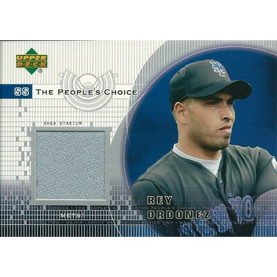 レイ・オルドニェス MLBカード Rey Ordonez 2002 Upper Deck People's Choice Game Jersey