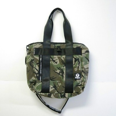 AAPE BY A BATHING APE AAPE NYLON CANVAS CORDURA BAG エーエイプバイアベイシングエイプ エーエイプ ナイロン キャンバス トートバッグ カモ柄...