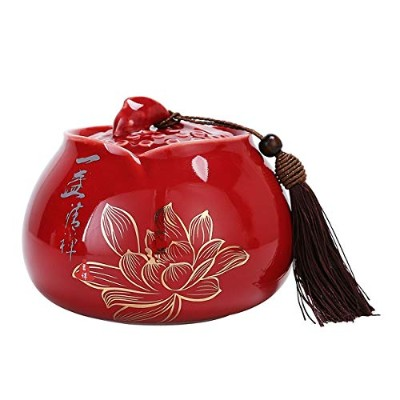 XIONGHAIZI 記念動物、ペット棺、陶器、ペット(色:青、赤、3つのサイズ) 灰缶 (Color : Red, Size : M)