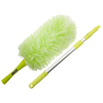Pure Care Microfiber Duster with Extension Pole, Flexible, Bendable, Washable, Lint Free, Hypoallerg...