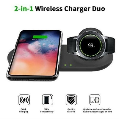 Kartice Compatible with Samsung Galaxy Watch 46mm 42mm/ Active 40mm & iphone &Galaxy Buds QIワイヤレス 2...
