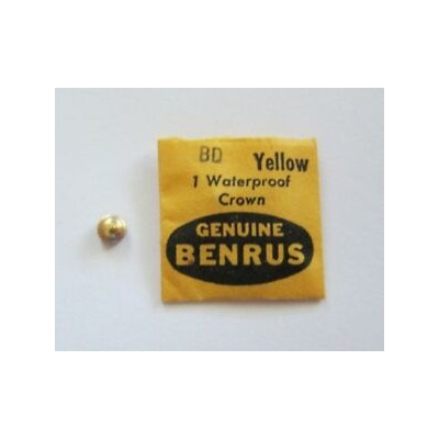 【送料無料】腕時計 クラウンイエローウォッチgenuine benrus bd watch crown yellow waterproof signed benrus