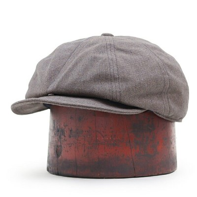 FREEWHEELERS フリーホイーラーズ DYLAN 8 PANELS CAP 1940s SUBTERRANEANS STYLE CASQUETTE YARN-DYED TWILL GRAY...