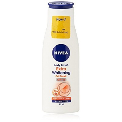 1 X 75ml - Nivea Body Lotion Extra Whitening Cell Repair & Uv Protect Spf-15 [並行輸入品]