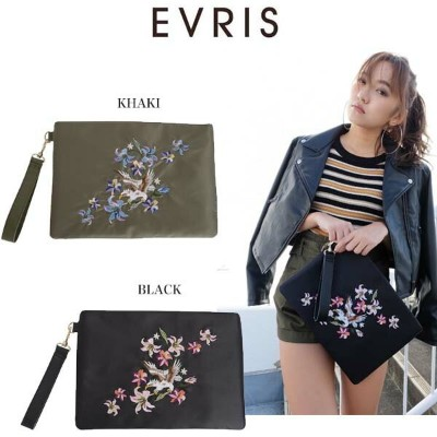 (SALE60%OFF)EVRIS エヴリス EMBROIDERYクラッチBAG バッグ 371711900401 キャッシュレス5%還元