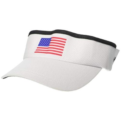 (White with USA Flag, One Size) - Headsweats Men's and Women's Supervisors