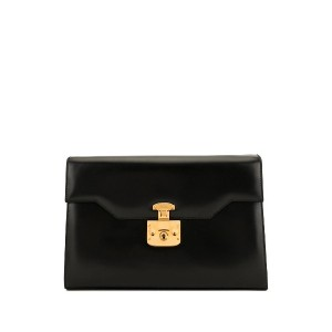 Gucci Pre-Owned Lady Lock クラッチバッグ - ブラック