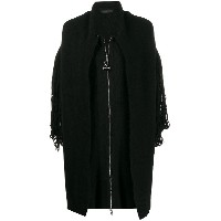 Diesel knitted fringe detail coat - ブラック