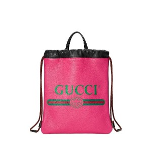 Gucci Gucci プリント ドローストリング バックパック - ピンク