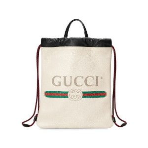 Gucci Gucci プリント バックパック - ホワイト