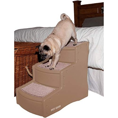 Pet Gear Easy Step III Pet Stairs, 3-step/for cats and dogs up to 150-pounds, Tan by Pet Gear