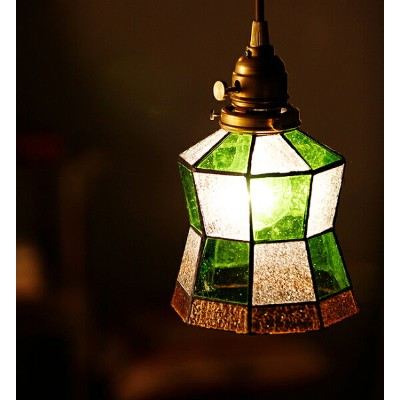 Stained glass-pendant Helm(電球付)