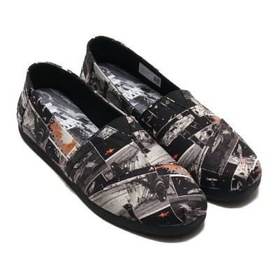 TOMS MENS Star Wars ALPARGATA 3.0 Darth Print(トムス スターウォーズ アルパルガータ)Black Starwars Darth Print【メンズ...